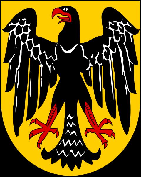 Stema e shqiponjës së stilizuar, e cila përdoret sot gjerësisht në institucionet gjermane, duke përbërë gjithashtu një atraksion të vërtetë shumëplanësh, e ka origjinën dhe mbart firmën e Profesor Emil Doepler në vitin 1919.
