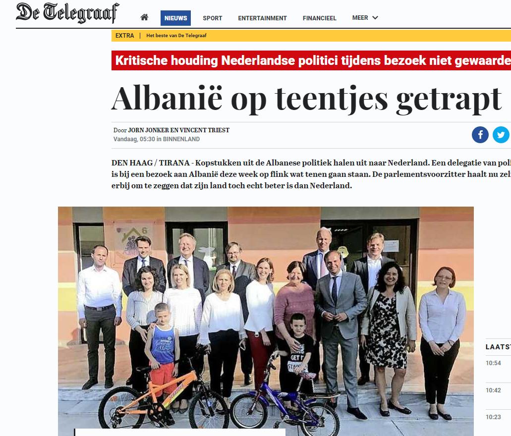 Lajmi ne median holandeze