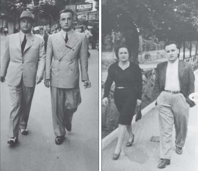 Spiro Çomora (majtas) me të vëllanë dhe (djathtas) me të motrën