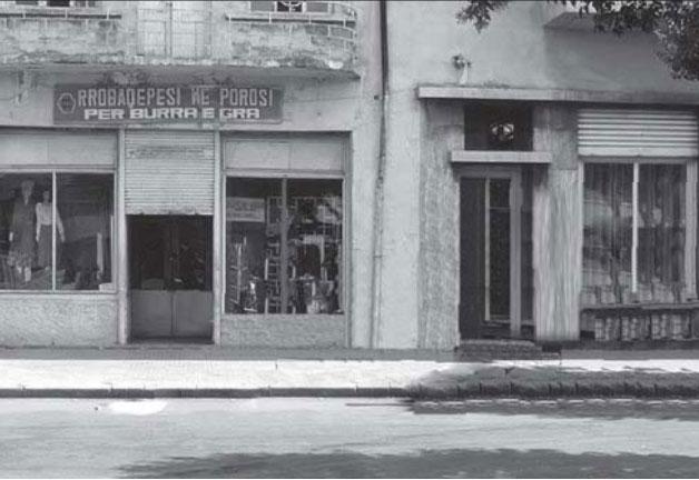 Dyqani i modës në Rrugën e Dibrës