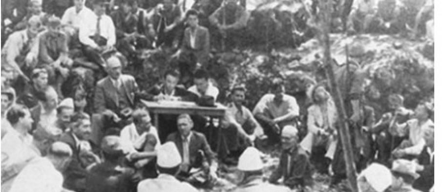 Nga mbledhja e Mukjes, gusht 1943