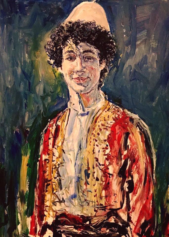 Portret i Atjon Zhitit, nga Gjergj Kola, i ekspozuar në Paris