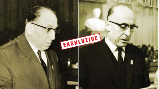 Koco Theodhosi (djathtas) dhe Abdyl Kellezi (majtas)