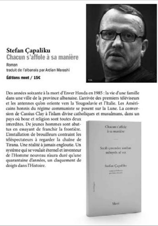 Kopertinat e romanit të Stefan Çapalikut, në gjuhën serbe, maqedonase dhe franceze1