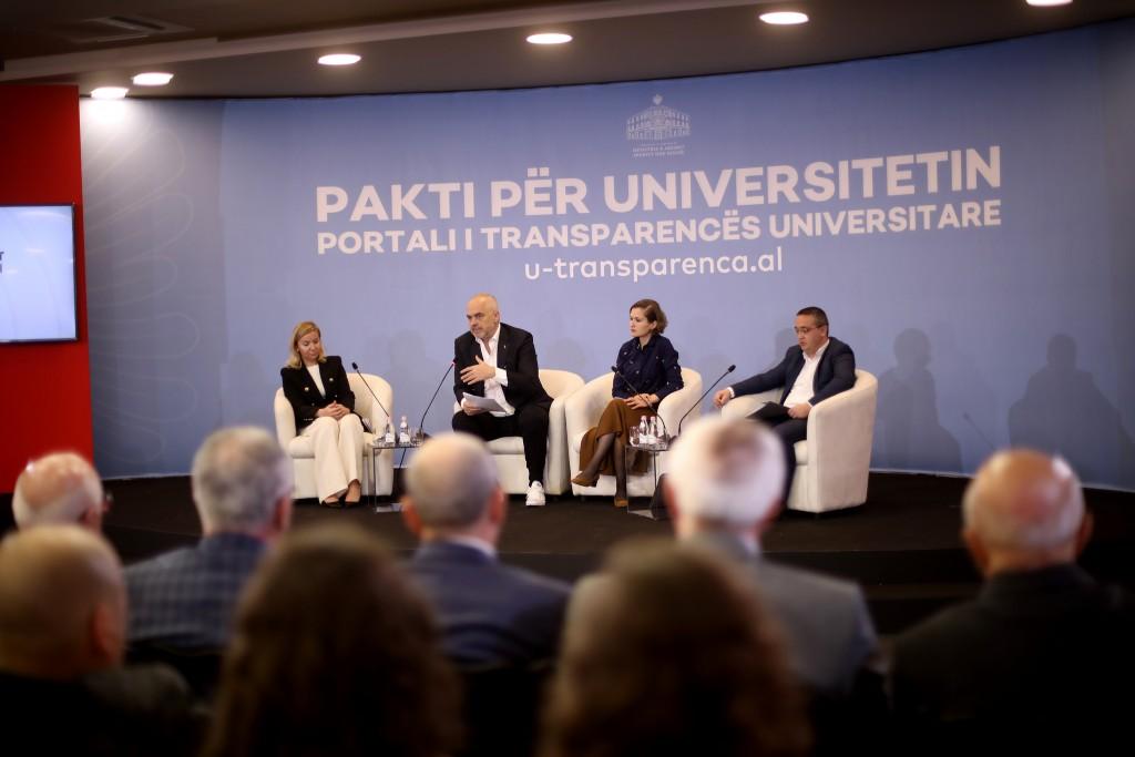 Kryeministri Rama, dje në prezantimin e portalit për transparencën në universitete