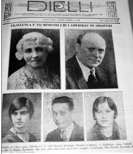 """Kopertina e gazetës """"Dielli"""", 1930"""