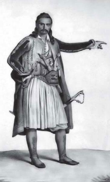 Suljoti, vizatim nga Louis Dupré