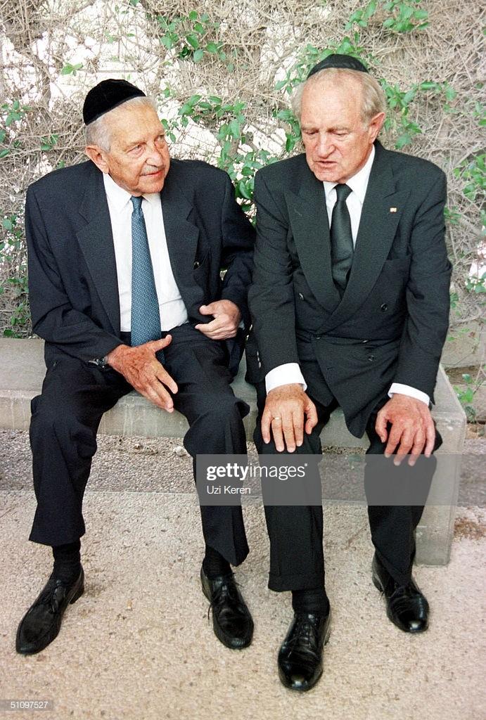sh-Presidenti izraelit, Ezer Weizman me ish-Presidentin gjerman, Johannes Rau