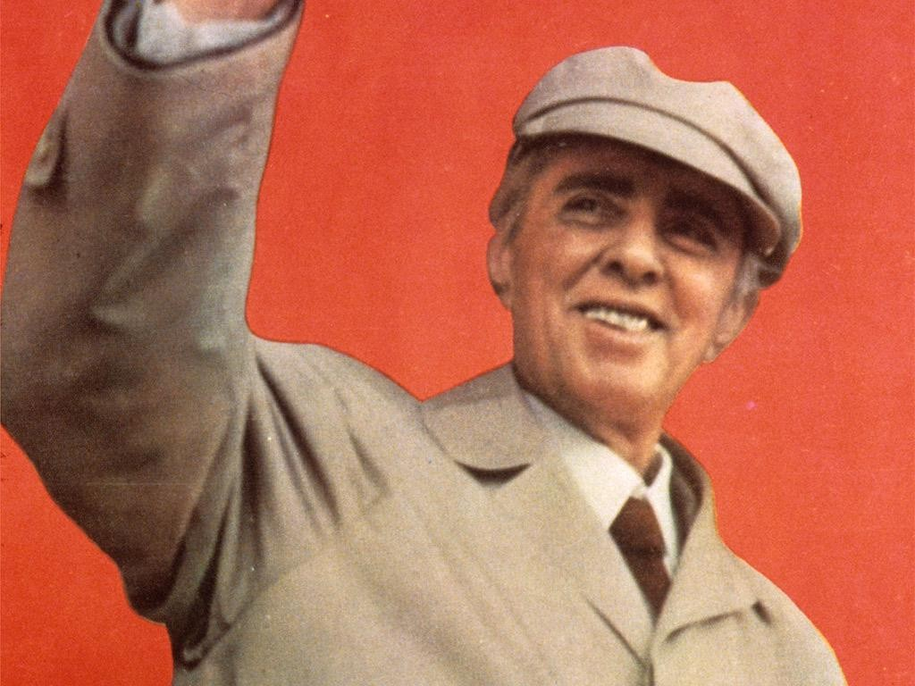 Enver Hoxha në Spartakiadën Kombëtare, 1984, foto: Kumi
