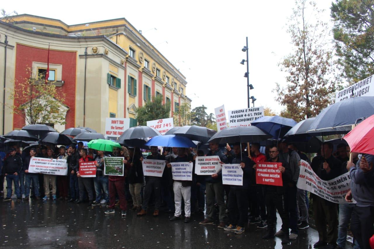 Fermeret ne proteste para Ministrise se Bujqesise (7)