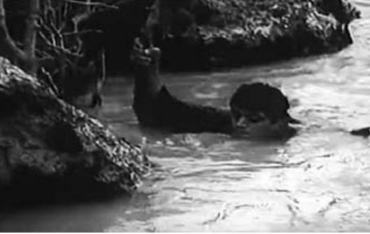 """Një nga planet në lumin e rrëmbyer te filmi """"Malet me blerim mbuluar"""""""