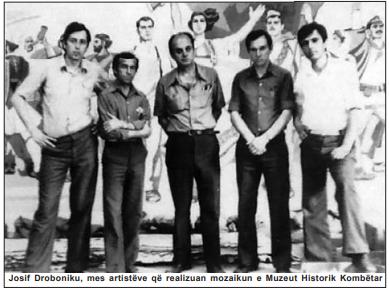 Josif Droboniku, mes artistëve që realizuan mozaikun e Muzeut Historik Kombëtar