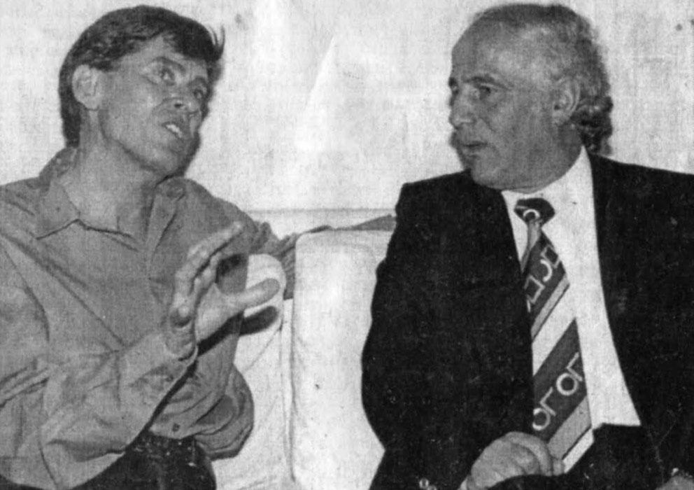 Sherif Merdani dhe këngëtari italian, Gianni Morandi