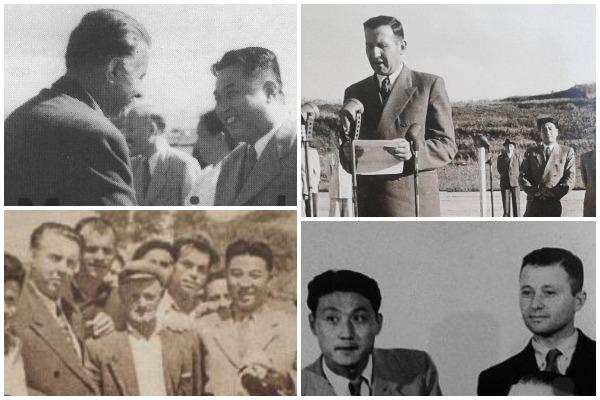 Fotot e rralla Enveri me gjyshin e KIM Jong Un-it