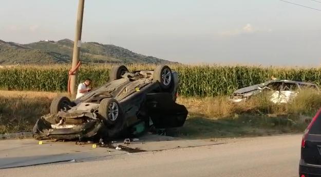 aksident Elbasan-Peqin