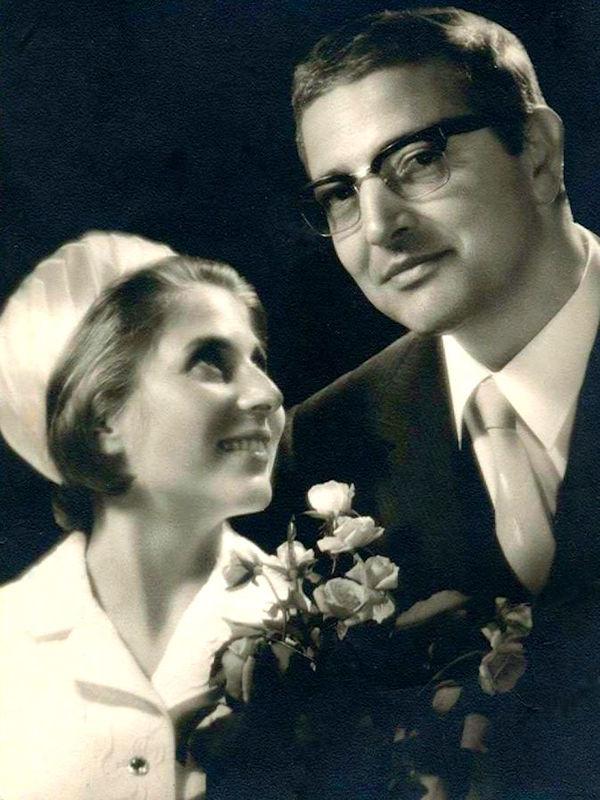 Martin Camaj dhe bashkëshortja e tij, Erika