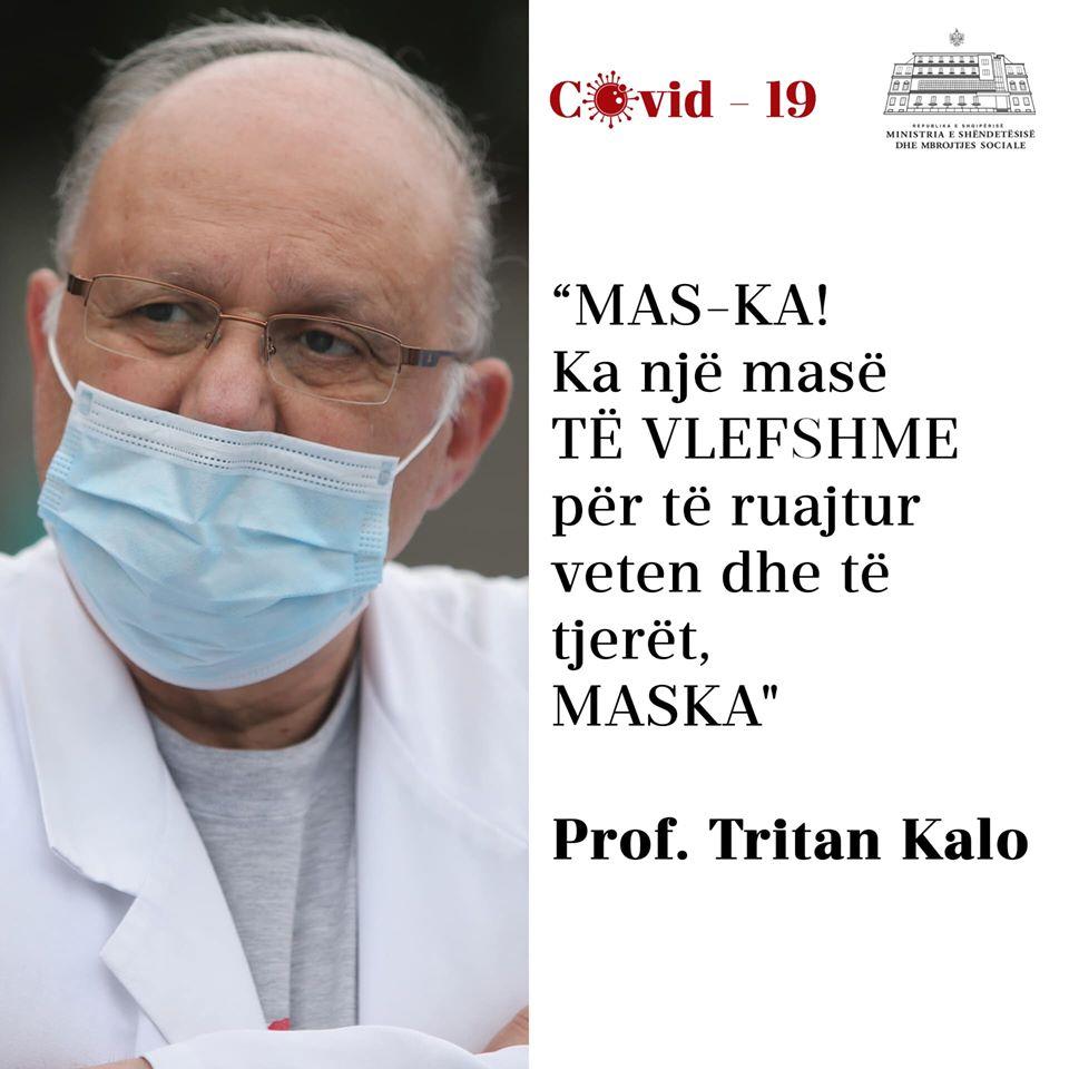 Përhapja e COVID-19/ Ministrja Manastirliu citon mjekun Tritan Kalo: Ka një masë të vlefshme për të ruajtur veten dhe të tjerët, maska