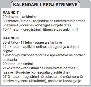 kalendari i regjistrimeve