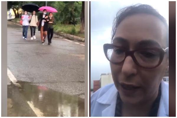'Dje ishim heronj, sot…'/ E gjobiti policia, mjekja denoncon çfarë ndodh në oborrin e QSUT-së-VIDEO