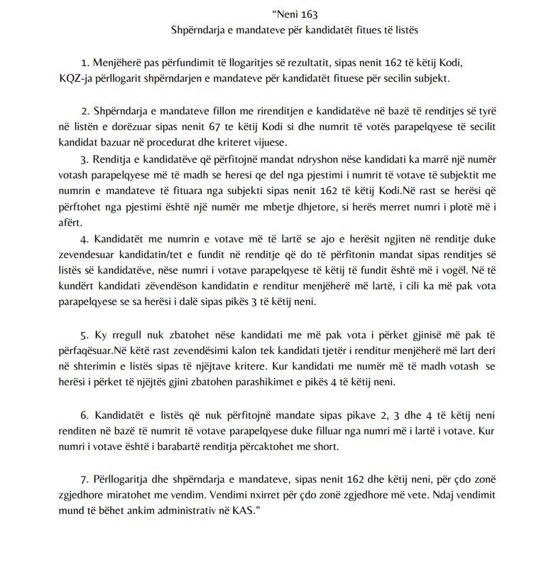 shperndarja mandateve-ligji i PS