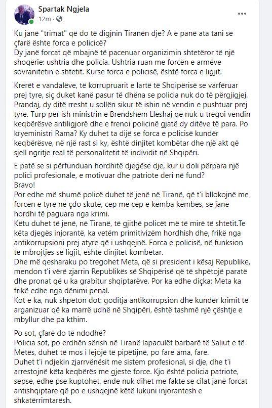 Spartak Ngjela-protestuesit