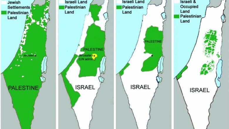 Harta se si eshte rrudhosur toka palestineze prej vitit 1846
