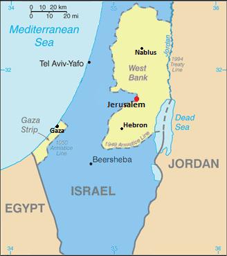 Në kohën kur luftimet përfunduan në vitin 1949, Izraeli kontrollonte pjesën më të madhe të territorit
