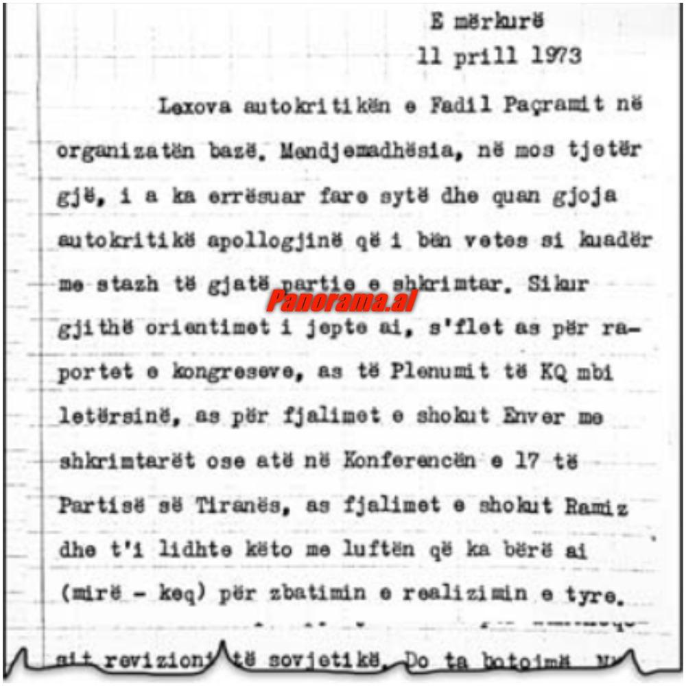 Letra e Nexhmije Hoxhes