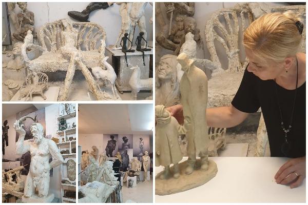 Ne studion e Arben Bajo, bashkeshortja e tij Teuta ne nje interviste per gazeten Panorama