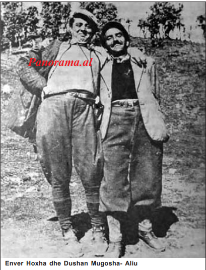 Enver Hoxha dhe Dushan Mugosha- Aliu