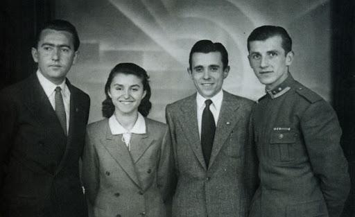 Fadil Paçrami, Liri Belishova, Nako Spiru and Ramiz Alia