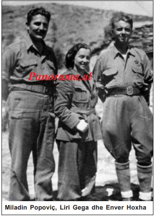 Miladin Popoviç, Liri Gega dhe Enver Hoxha