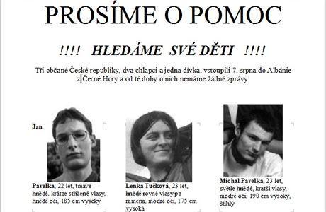 Tre studentët çekë, të humbur që nga viti 2000