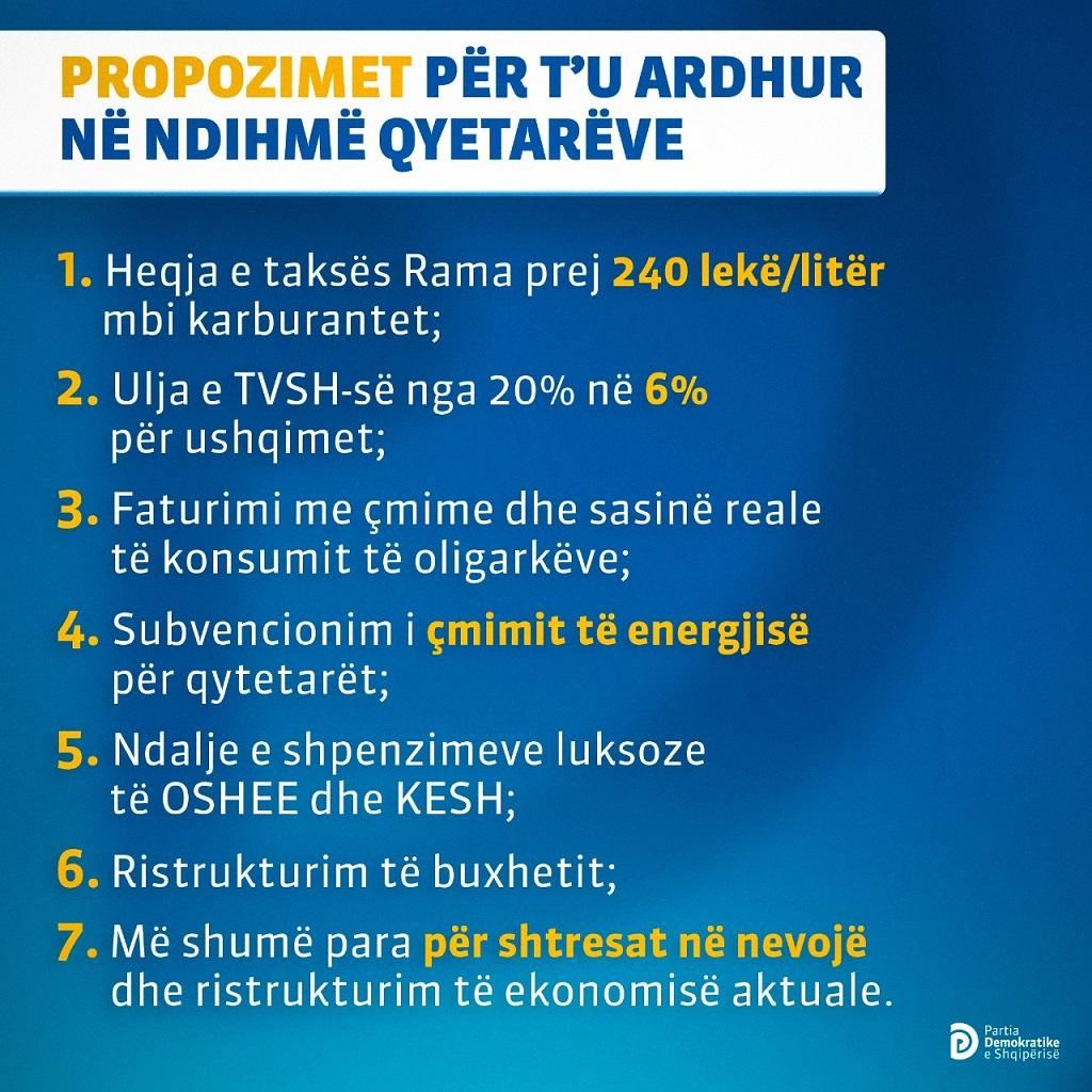 propozimet e pd plani me 7 pika basha energjia